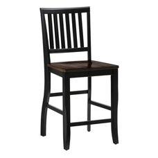 Braden Birch Counter Height Chair in Antique Black