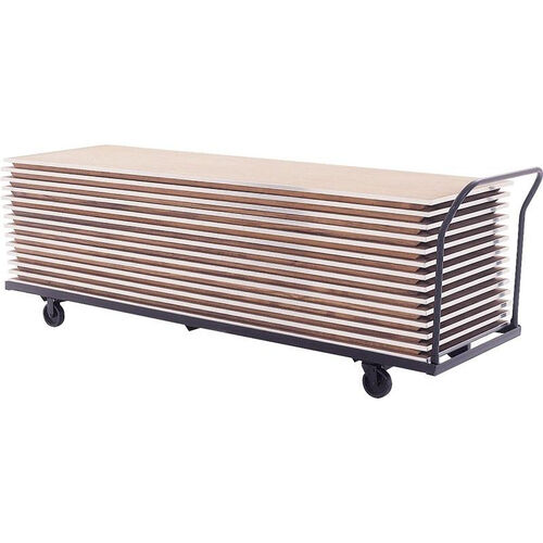 Heavy Duty Round End Storage Table Truck with Removable U-Handle