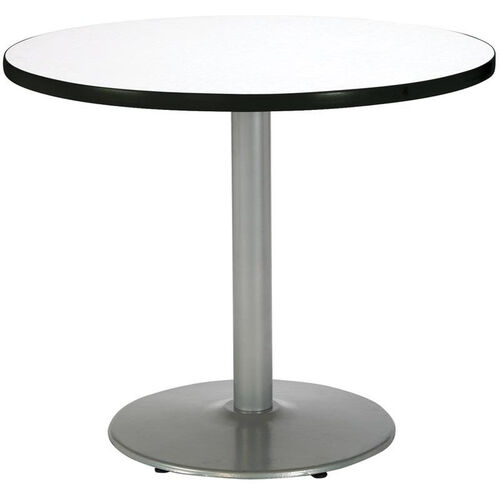 Our Round Laminate Pedestal Table with Silver Round Base is on sale now.