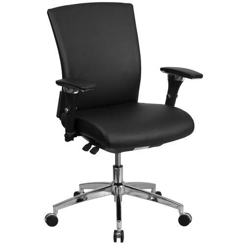 Our HERCULES Series 24/7 Intensive Use 300 lb. Rated Black LeatherSoft Multifunction Ergonomic Office Chair with Seat Slider is on sale now.