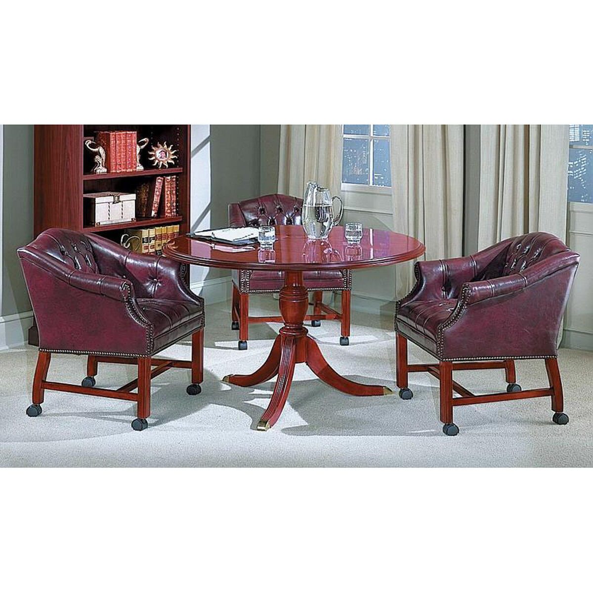 Round Conference Table TRTR Bizchaircom - Pedestal conference table