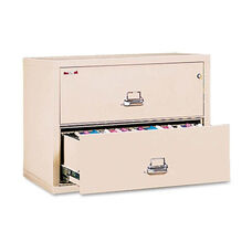FireKing® Two-Drawer Lateral File - 37-1/2w x 22-1/8d - UL Listed 350° - Ltr/Legal - Parchment