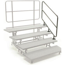 Mobile E - Z Riser with Side Rails and Built - In Back Rail - 58