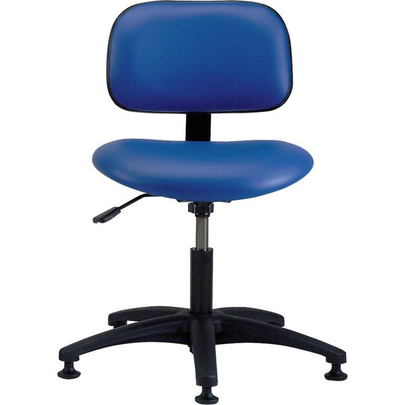 Industrial Vinyl Task Chair With ABS Base And Glides