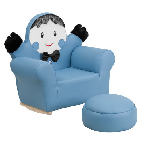 Our Kids Blue Little Boy Rocker Chair and Footrest is on sale now.