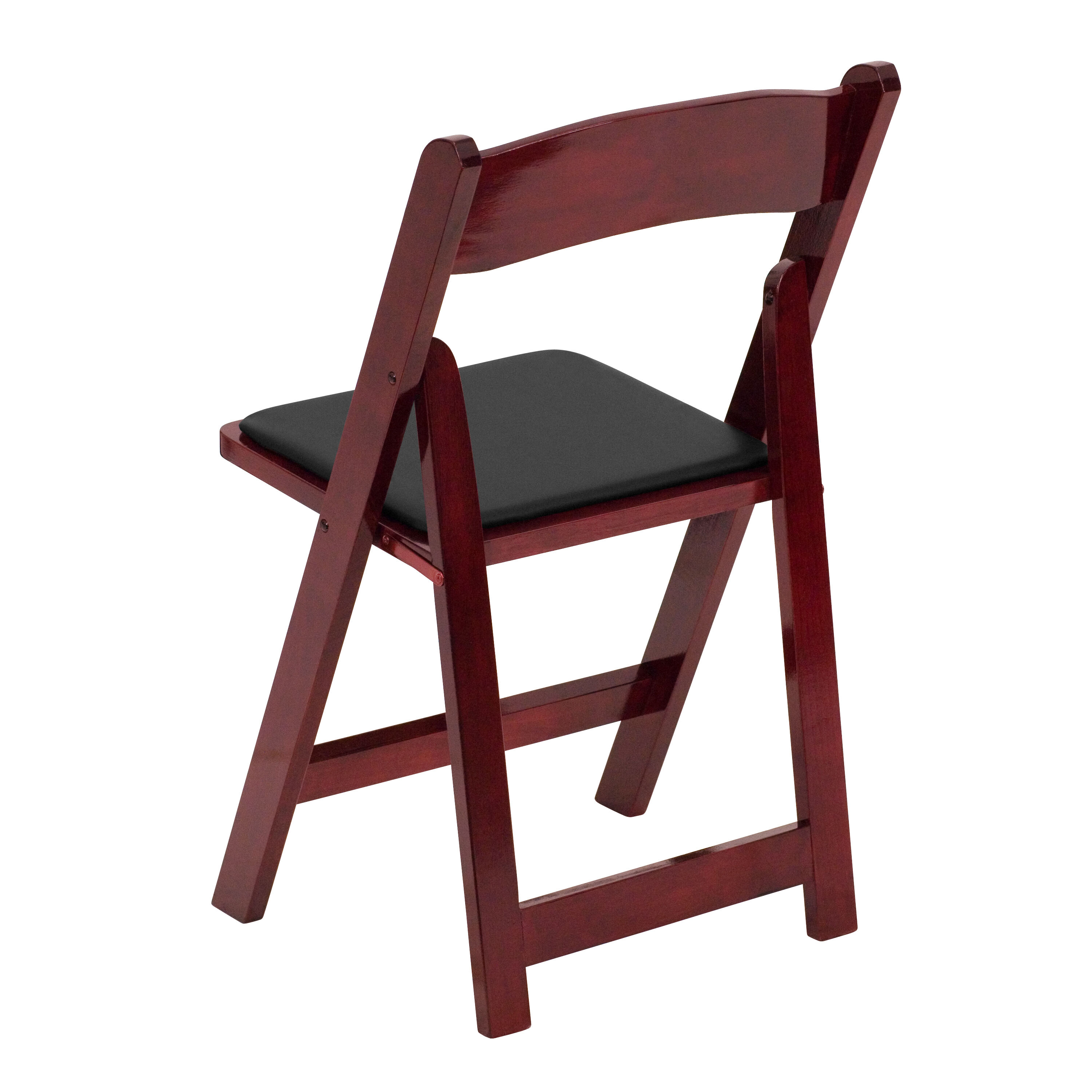 Our HERCULES Series Mahogany Wood Folding Chair With Vinyl Padded Seat Is  On Sale Now.