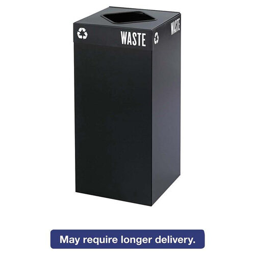 Our Safco® Public Square Recycling Container - Square - Steel - 31gal - Black is on sale now.
