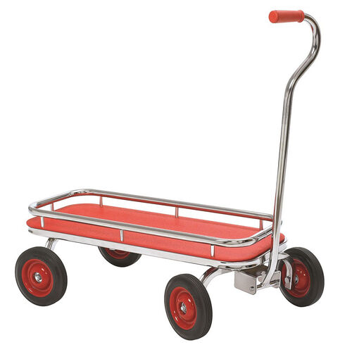 Our Angeles Silver Rider Wagon with Spokeless Solid Rubber Wheels - Red is on sale now.