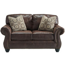 Benchcraft Breville Loveseat in Espresso Faux Leather