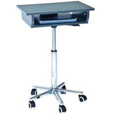 Techni Mobili Folding Table Laptop Cart - Graphite