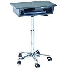 Techni Mobili Folding Table Laptop Cart - Graphite