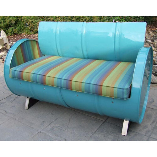 Our Laguna Indoor Steel Drum Loveseat with Multicolor Accents is on sale now.