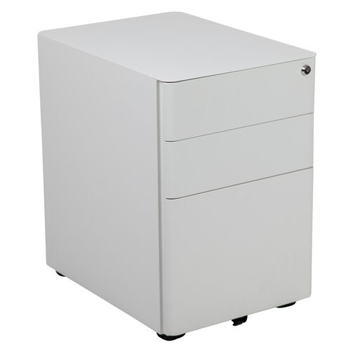 Our Modern 3-Drawer Mobile Locking Filing Cabinet with Anti-Tilt Mechanism and Hanging Drawer for Legal & Letter Files, White is on sale now.