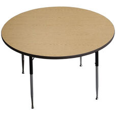 Circle Shaped Particleboard Activity Table - 48