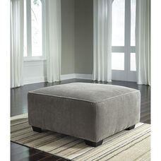 Signature Design by Ashley Jinllingsly Oversized Accent Ottoman in Gray Corduroy
