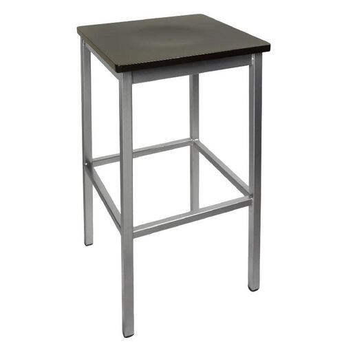 Our Trent Backless Silver Barstool - Wood Seat is on sale now.
