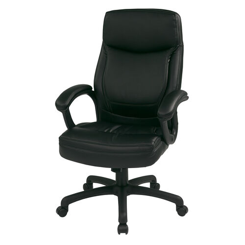 Our Work Smart Executive High-Back Eco-Leather Office Chair with Seat Adjustment - Black is on sale now.