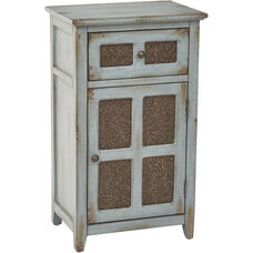 Inspired By Bassett Kenworth Hand Painted Storage Cabinet - Antique Aquamarine