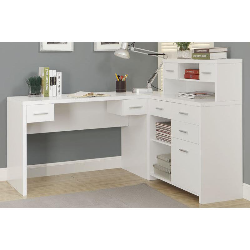 Exceptionnel ... Our L Shaped Left Or Right Facing Home Office Desk With Hutch   White Is