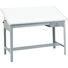 Precision 56.5'' W x 35.5'' H Drafting Table Base - Gray