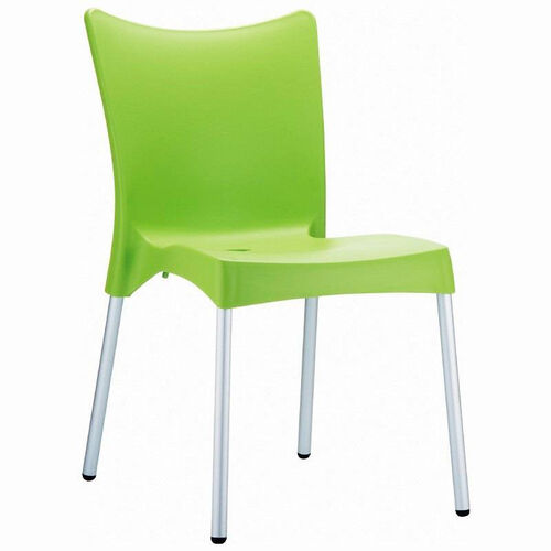 Our Juliette Outdoor Resin Stackable Dining Chair with Aluminum Legs - Apple Green is on sale now.