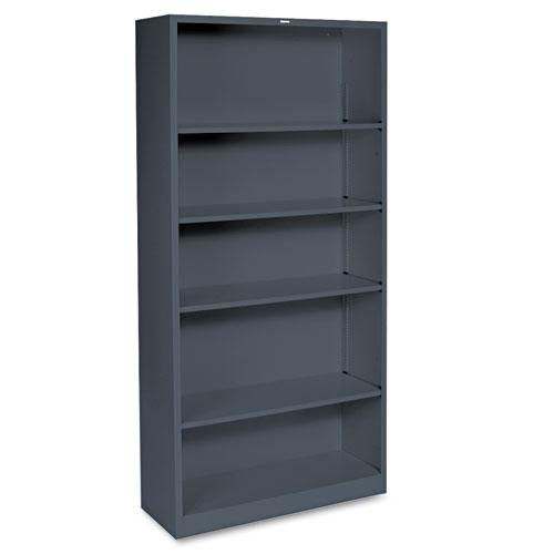 Our HON® Metal Bookcase - Five-Shelf - 34-1/2w x 12-5/8d x 71h - Charcoal is on sale now.