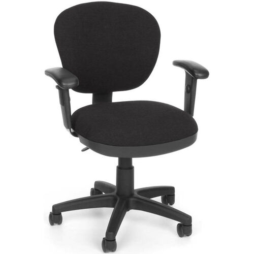 Lite Use Computer Task Chair with Arms - Black