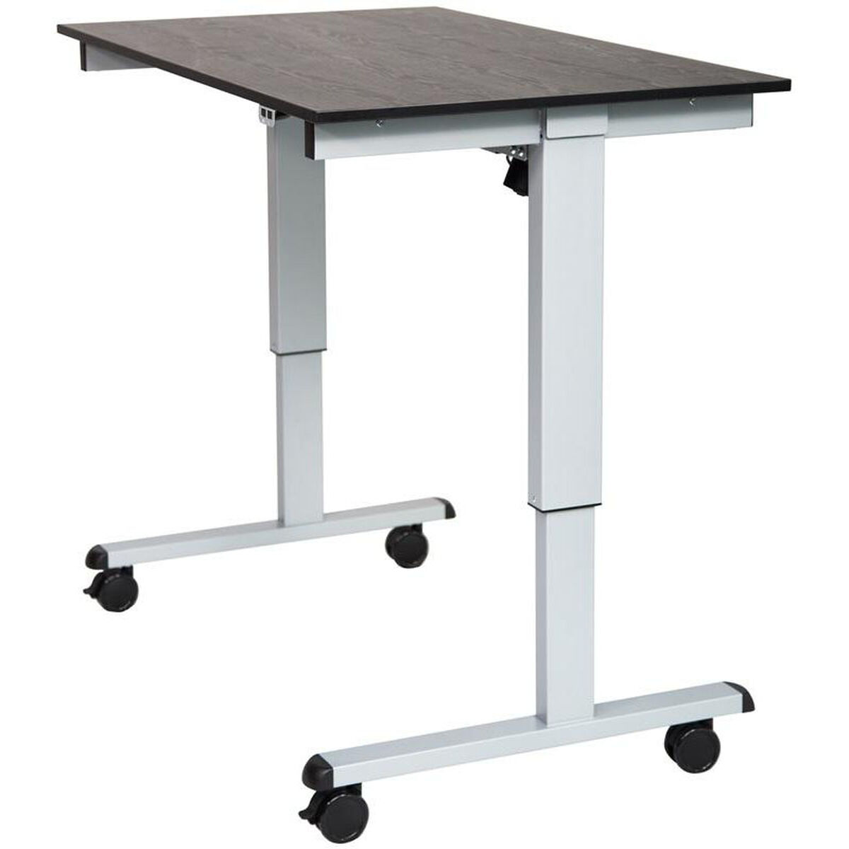 Adjustable Height Silver Steel Frame Electric Standing