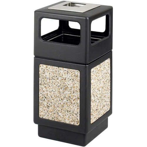 Canmeleon™ 38 Gallon Indoor or Outdoor Aggregate Panel Ash Urn Side Receptacle - Black