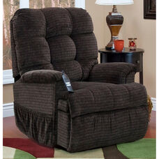 Reclining Sleeper Power Lift Chair with TV Position and Full Chaise Pad - Cabo Godiva Fabric