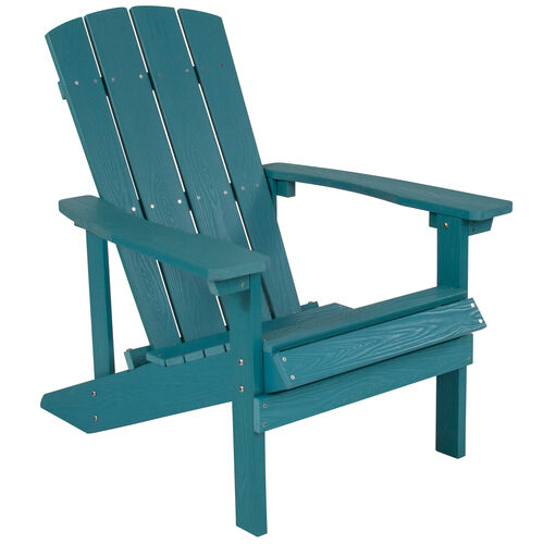 Our Charlestown All-Weather Adirondack Chair in Sea Foam Faux Wood is on sale now.
