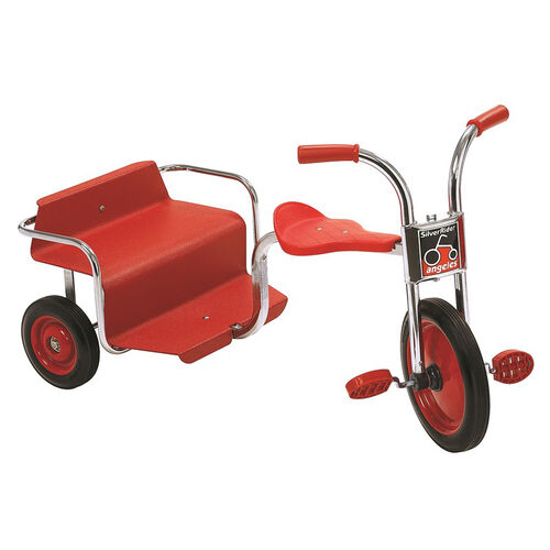 Our Angeles Silver Rider Rickshaw with Spokeless Solid Rubber Wheels - Red is on sale now.