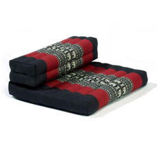 Dhyana Meditation Cushion with Built in Bolster - Black and Red