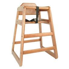 Walnut Finish Wood High Chair