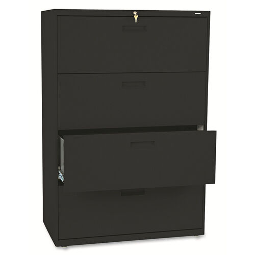 Our HON® 500 Series Four-Drawer Lateral File - 36w x 19-1/4d x 53-1/4h - Black is on sale now.