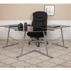"L-Shaped Desk 83.5"" Computer Corner Desk, Gaming Corner Desk, Home Office Corner Desk, Gaming Desk, Space Saving, Easy to Assemble, Black"