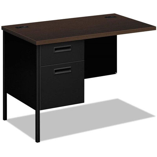 Our HON® Metro Classic Series Left Workstation Return with Mocha Laminate Top - 42