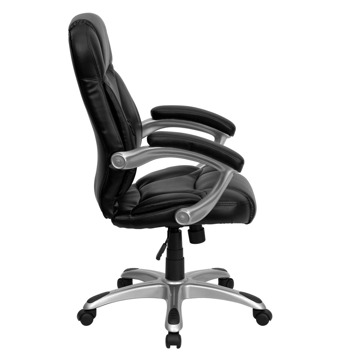 contemporary leather high office chair black. Our High Back Black Leather Contemporary Executive Swivel Chair With Arms Is On Sale Now. Office T