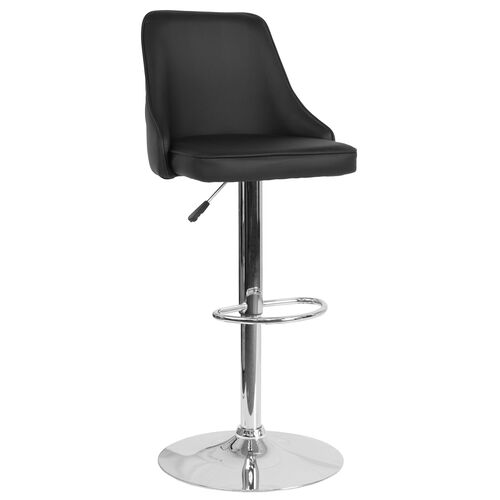 Our Trieste Contemporary Adjustable Height Barstool in Black Leather is on sale now.