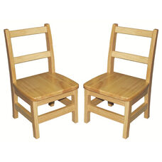 Assembled 3 Rung Hardwood Ladderback Chair with Mortise and Tenon Construction