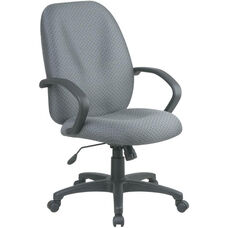Work Smart Executive High Back Managers Chair with C style Arm and Lumbar Support