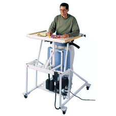 Hi-Lo Econo-Line Stand In Table with Electric Patient Lift - Sail White Laminate