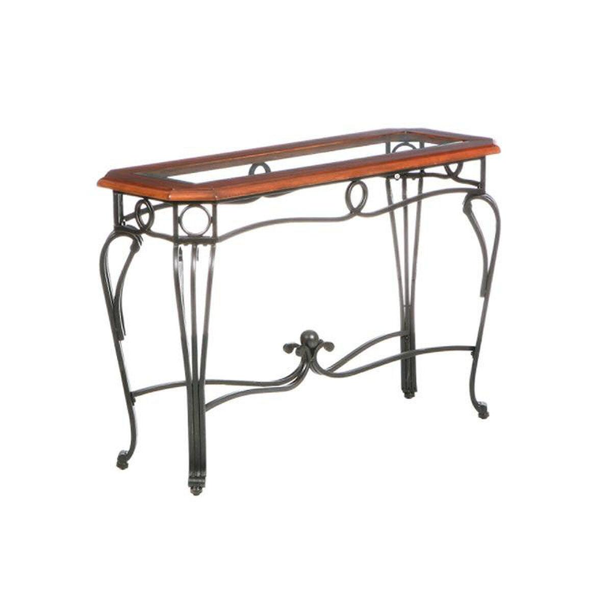 Wood Metal Sofa Table Glass Top Ck7543 Bizchair Com