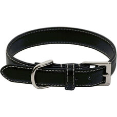 Perry Street Luxury Small Dog Collar - Genuine Leather - Black