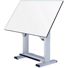 Table with White Base and White Top 36