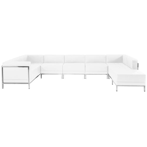 Our HERCULES Imagination Series Melrose White Leather U-Shape Sectional Configuration, 7 Pieces is on sale now.
