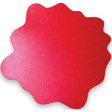 40'' x 40'' Cleartex Sploshmat Floor Protection Mat for Low Pile Carpets Up to .25'' Thick - Volcanic Red