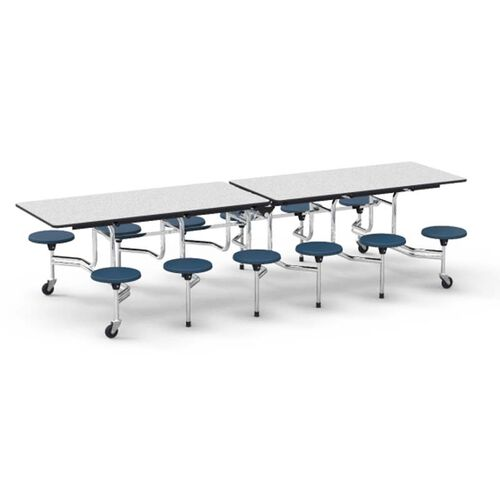 Our MTS Series Gray Nebula Mobile Folding Table with 17