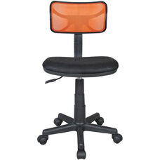Techni Mobili Mesh Task Chair - Orange