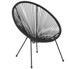Valencia Oval Comfort Series Take Ten Black Rattan Lounge Chair